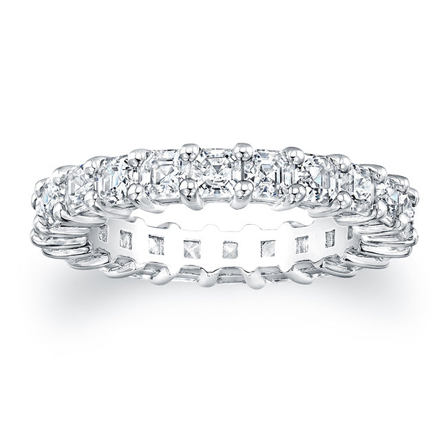 Asscher Cut Diamond Eternity Ring - 3.15CTW F/VS2
