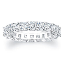 Load image into Gallery viewer, Asscher Cut Diamond Eternity Ring - 4.00CTW F/VS2