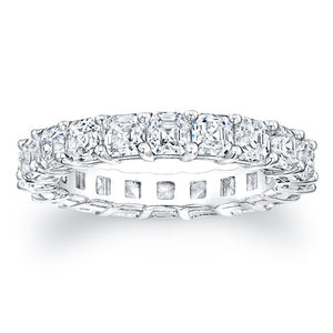 Asscher Cut Diamond Eternity Ring - 4.00CTW F/VS2