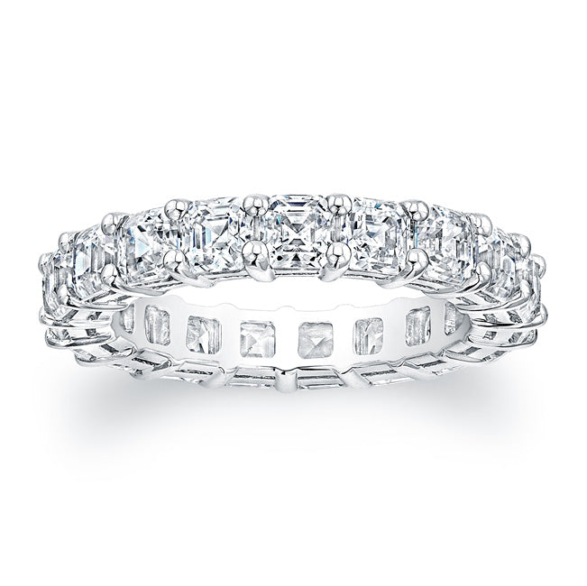 Asscher Cut Diamond Eternity Ring - 4.50CTW F/VS2