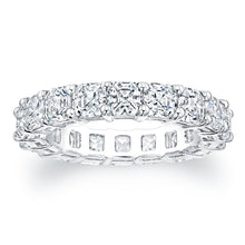 Load image into Gallery viewer, Asscher Cut Diamond Eternity Ring - 5.94CTW F/VS2