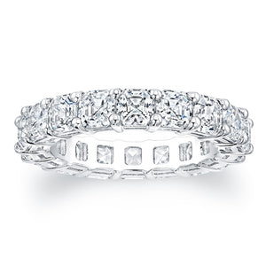 Asscher Cut Diamond Eternity Ring - 5.94CTW F/VS2