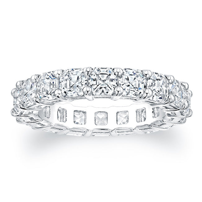 Asscher Cut Diamond Eternity Ring - 5.50CTW