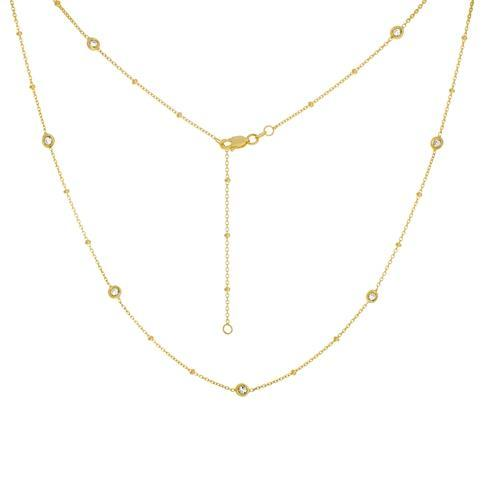 14k Yellow Gold Diamond by the Yard Necklace- 20