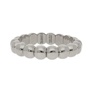 18k White Gold Small Aura Stretch Bracelet