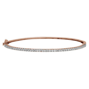 18k Rose Gold Diamond Bangle Bracelet