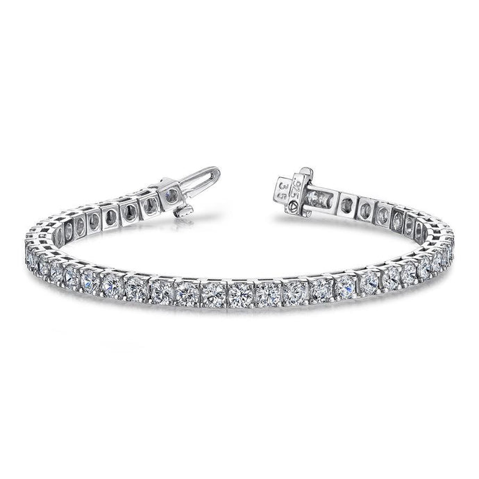 18k White Gold Diamond Tennis Bracelet - 12ctw