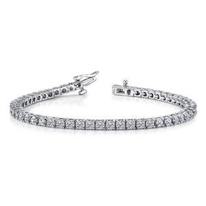 18k White Gold Diamond Tennis Bracelet - 5.09ctw