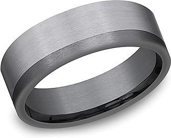 Benchmark Tantalum Men's 7mm Wedding Band