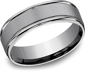 Benchmark Tantalum Men's Wedding Band