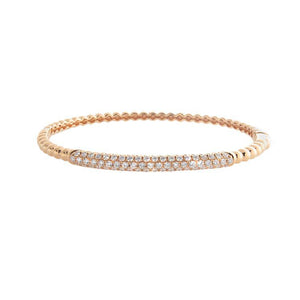 18k Rose Gold Diamond Bangle