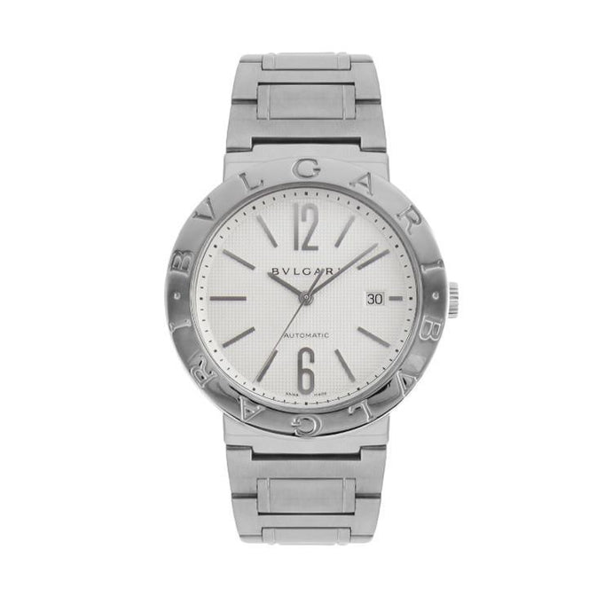 Pre-Owned Bulgari Diagono In Stainless Steel