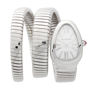 Pre-Owned Bulgari Serpenti Tubogas In Stainless Steel