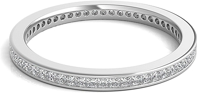 Channel Set Princess Cut Diamond Eternity Ring .50ct tw