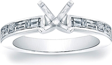 Load image into Gallery viewer, Channel-Set Straight Baguette Diamond Engagement Ring- 2/3ct tw.