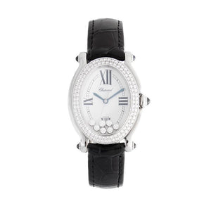 Chopard Diamond Happy Sport Oval In 18K White Gold