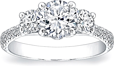 Coast Diamond 3-Stone Diamond Engagement Ring