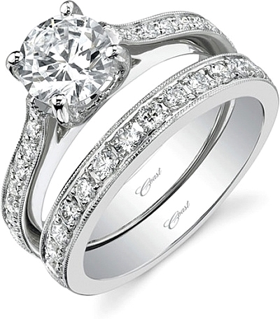 Coast Diamond Pave Diamond Engagement Ring