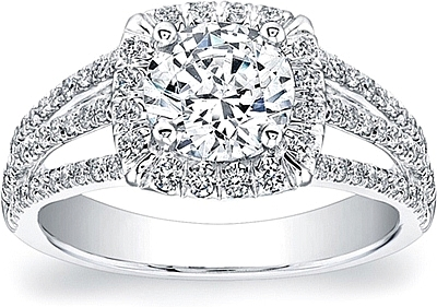 Coast Diamond Triple Shank Diamond Engagement Ring