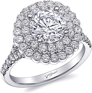 Coast Double Halo Diamond Engagement Ring