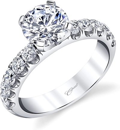 Coast Fishtail Set Diamond Engagement Ring
