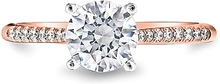 Load image into Gallery viewer, Coast Rose Gold Diamond Engagement Ring