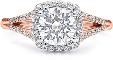 Coast Rose Gold Split Shank Diamond Engagement Ring