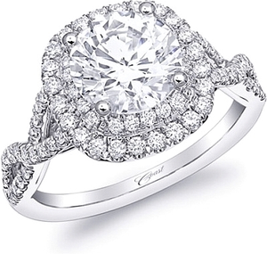 Coast Twist Shank Diamond Engagement Ring