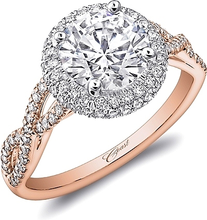 Load image into Gallery viewer, Coast Twist Shank Diamond Engagement Ring