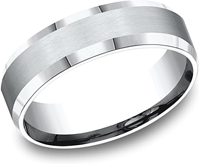 Comfort Fit Beveled Edge Wedding Band-6mm