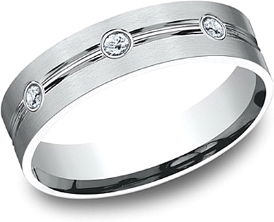 Comfort Fit Diamond Wedding Band- 6mm