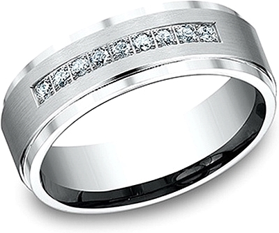Comfort Fit Diamond Wedding Band- 7mm