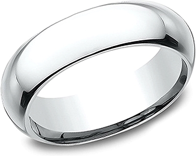 Comfort Fit High Dome Wedding Band-6mm