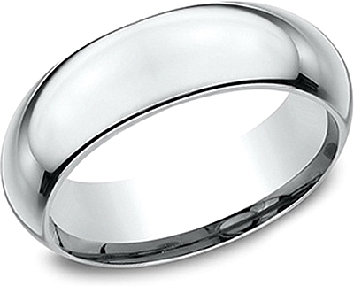 Comfort Fit High Dome Wedding Band-7mm