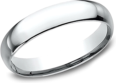 Comfort Fit High Polished Wedding Band- 4mm