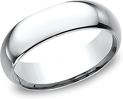 Comfort Fit High Polished Wedding Band- 7mm