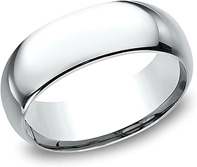 Comfort Fit High Polished Wedding Band- 8mm