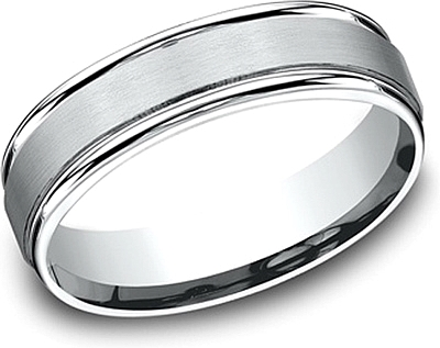 Comfort Fit Satin Finish Wedding Band-6mm