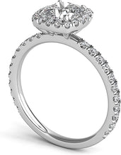 Load image into Gallery viewer, Cushion Halo Diamond Engagement Ring