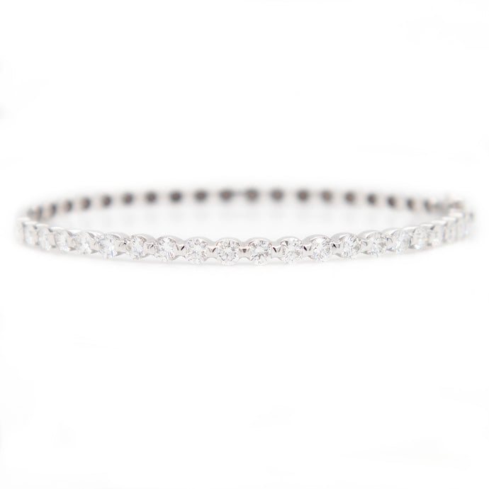 2ct 14k White Gold Diamond Bangle2ct 14k White Gold Diamond Bangle