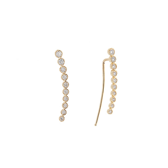 14k Yellow Gold Diamond Ear Crawlers