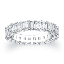 Load image into Gallery viewer, Emerald Cut Diamond Eternity Ring 3.75CTW F VS2
