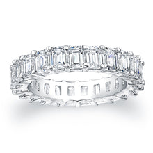 Load image into Gallery viewer, Emerald Cut Diamond Eternity Ring 4.40CTW F/VS2