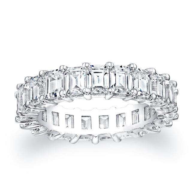 Emerald Cut Diamond Eternity Ring - 5.00CTW F/VS2