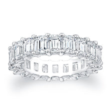 Load image into Gallery viewer, Emerald Cut Diamond Eternity Ring - 6.27CTW F/VS2