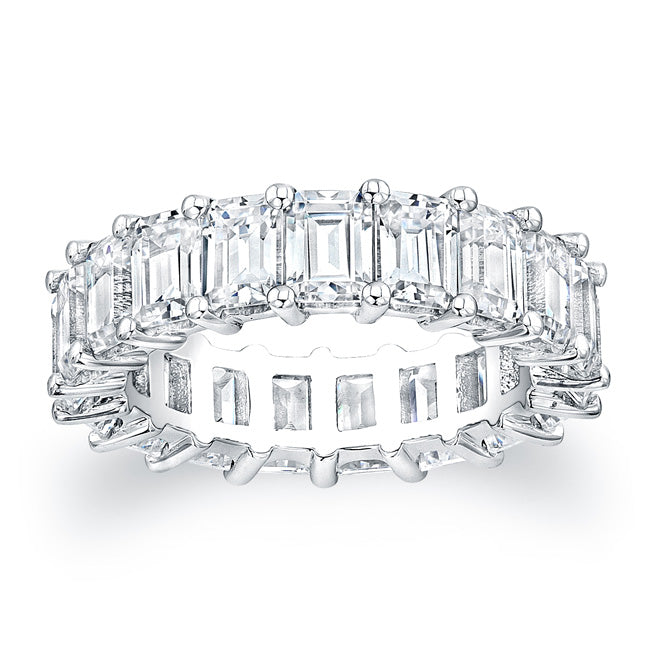 Emerald Cut Diamond Eternity Ring - 7.20CTW F/VS2