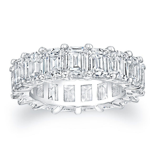 Emerald Cut Diamond Eternity Ring - 8.00CTW F/VS2