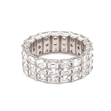 6.19ct 18k White Gold Eternity Band