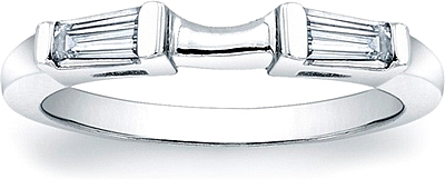 Fitted Tapered Baguette Diamond Band