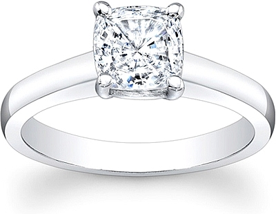 Flush Fit Solitaire Diamond Engagement